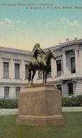 "Boston , Mass. , 00-10s Museum Of Fine Arts ; Indian Statue ""Great White Spirit"" - Native Americans"
