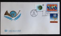 United Nations/N.Y., Uncirculated FDC « PEACE », « SECURITY », 1964 - New-York - Siège De L'ONU