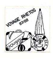 Autocollant Voyage Rhetos 87/88 Yougoslavie - Format : 10x10cm - Adesivi