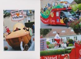 Lot De 3 Photographies Caravannes  Publicitaires Tour De France - Cycling