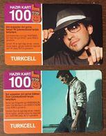 TURQUIE LOT DE 2 RECHARGES GSM PRÉPAYÉE TELE CARD PHONE CARD TELECARTE - Turchia