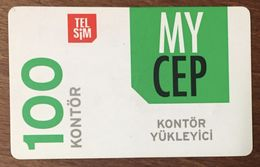 TURQUIE MY CEP TEL SIM RECHARGE GSM PRÉPAYÉE TELE CARD PHONE CARD TELECARTE - Turchia