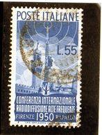 B - 1950 Italia - Radiodiffusione - 1946-.. République