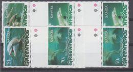 Greenpeace 1997 Samoa Dolphins 4v Gutter ** Mnh (48394) - Dolphins