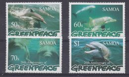 Greenpeace 1997 Samoa Dolphins 4v ** Mnh (48394A) - Dolphins