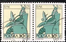 Polska - Poland - Polen - P1/6 - (°)used - Symbolen Van De Dierenriem - Michel Nr. 3588 - Kreeft - Astrologie