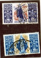 B - 1948 Italia - Santa Caterina - Posta Aerea - 1946-.. République