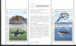 Por. Block 041 Brasiliana 83  Meeressäugetiere Gestempelt Used - Blocks & Kleinbögen