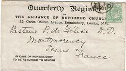 CTN63/ETR - GRANDE BRETAGNE MANCHETTE DE JANVIER 1905 - Storia Postale