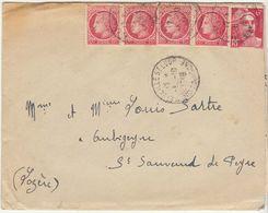 EAC/ Bel Affranchissement Mazelin Gandon 10F O. Marseille St Loup 1948 - Marcophilie (Lettres)