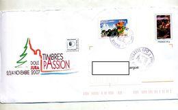 Pap  Vendanges + Voeux Cachet Paris Illustré Timbres Passion Dole Jura - Prêts-à-poster:  Autres (1995-...)