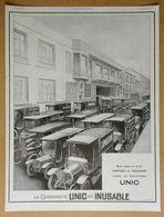 1924 La Camionnette UNIC Est Inusable - Fourneaux à Gaz Leseurre ... - Publicité - Werbung