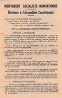 TRACT ROYALISTE Pour Le Comte De PARIS, HENRI D'ORLEANS Petit-fils Du ROI-CITOYEN, En Exil - Documentos Históricos