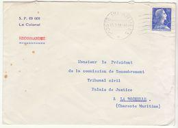 ESC  En Tête S.P. 69008 Le Colonel Recommandée 20F Muller OMEC Poste Aux Armées 1958 - Marcophilie (Lettres)