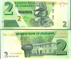 Zimbabwe 2 Dollars 2019 UNC - Zimbabwe