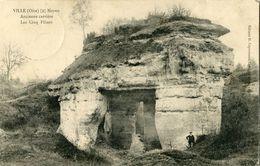 CARTE POSTALE FRANÇAISE DES CINQ PILIERS A VILLE PRES DE CHIRY -  NOYON OISE GUERRE 1914 1918 - War 1914-18