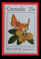 073.GRENADA (25C) 1996 STAMP BUTTERFLY(FIERY SKIPPER). MNH - Grenada (1974-...)