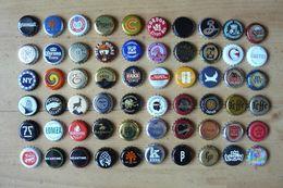 60 Capsules De Bouteilles De Bière - Toutes Différentes - Tous Pays (voir Les 3 Scans) - Beer