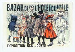 Carte Postale Reproduction Exposition Jouets Hotel De Ville  Bouisset - Jeux Et Jouets