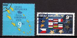 Tsjechie Mi 393.394 Europa Div. Gestempeld Fine Used - Tchéquie