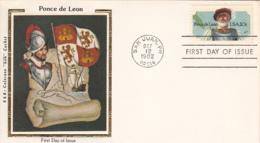 USA 1982 FDC Sc 2024 20c Ponce De Leon R & R Colorano Silk Cachet - First Day Covers (FDCs)