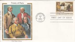 USA 1983 FDC Sc 2052 20c Treaty Of Paris R & R Colorano Silk Cachet - Premiers Jours (FDC)
