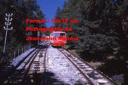 Reproduction D'une Photographie Du Funiculaire MMB N°2 De Pontresina En Suisse En 1971 - Reproductions