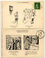La Poste Humoristique - 2 Cartes  - Voir Scan - Poste & Facteurs