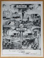 1924 UNIC Pour Voyager Confortablement (Automobiles - Puteaux) La Route... L'étape (camping, Au Palace...) - Publicité - Werbung