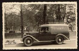 1937 - Camionnette RENAULT - [Boulangerie Viennoise] BLOCH Frères - 66 Rue De Flandre - Bruxelles - Photo Massot - Cartes Postales