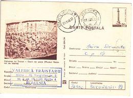 1979 , Romania , Roumanie , Trajan's Column , History , Pre-paid Postcard - Romania
