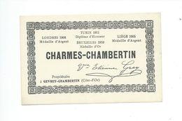 Étiquette De Vin CHARMES CHAMBERTIN - Bourgogne
