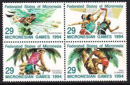 Micronesia 1994 Third Micronesian Games  Michel 352-55  MNH 28115 - Micronesia