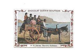Chromo - Chocolat Guerin Boutron - N°73 - Charrettes Siciliennes - Guérin-Boutron