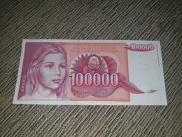 NO SERIAL NUMBER - Yugoslavia 100 000 Dinara 1989. AUNC - Yougoslavie