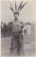 Congo Belge +/- 1928 Danseur (Katanga ?) Photo Carte - Guerre, Militaire