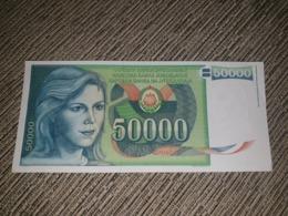 NO SERIAL NUMBER - Yugoslavia 50 000 Dinara 1988. AUNC - Yougoslavie