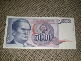 NO SERIAL NUMBER - Yugoslavia 5000 Dinara 1985. AUNC - Yougoslavie