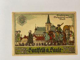 Allememagne Notgeld Saalfeld 75 Pfennig - Collections
