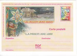 1999 , Romania , Roumanie , Happy New Year! , Pre-paid Postcard - Rumänien