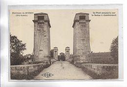 70 - Environs De JUSSEY ( Hte-Saône ) Le Pont Suspendu Sur La Saône à CENDRECOURT - Frankreich