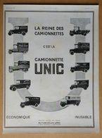 1924 Unic La Reine Des Camionnettes (Automobiles - Puteaux) - Publicité - Werbung
