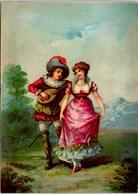 CHROMO Le Joeur De Mandoline 18.5X13cm Vers 1886 Sans Marque - Chromos