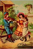 CHROMO Le Joueur De Violon 18.5X13cm Vers 1886 Sans Marque - Chromos