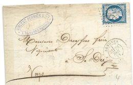 241 - 50 - Lettre Envoyée De Senones 1874 - 1871-1875 Cérès
