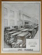 1924 Unic La Reine Des Camionnettes (Automobiles - Puteaux) - Les Filatures De La Redoute (Roubaix) - Publicité - Werbung