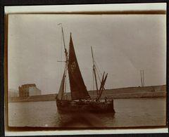 1921 - Blankenberghe - Bateau De Pêche - Photo 11 Cm X 9 Cm - 2 Scans - Bateaux