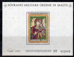 BF44 - SOVRANO MILITARE ORDINE DI MALTA S.M.O.M. 1972 - Il Foglietto BF  *** Natale  Christmas - Malte (Ordre De)