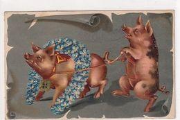Schweinchen Im Glück - Prägekarte - 1904            (P-252-00401) - Pigs