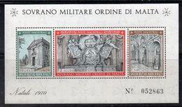 BF155 - SOVRANO MILITARE ORDINE DI MALTA S.M.O.M. 1970 - Il Foglietto BF  *** Natale  Christmas - Malte (Ordre De)